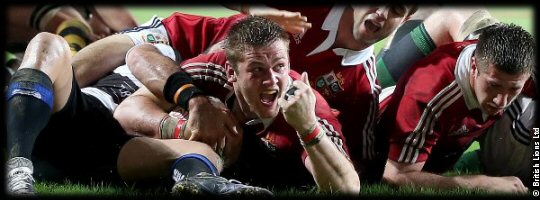 Barbarians British Lions Dan Lydiate try