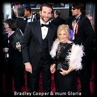 Bradley Cooper and mum Gloria in Tom Ford Oscars 2013