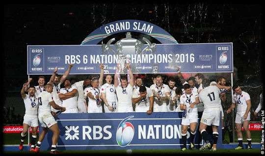 England Rugby RBS 6 Nations Grand Slam Champions 2016