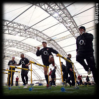 England Rugby training at the O2