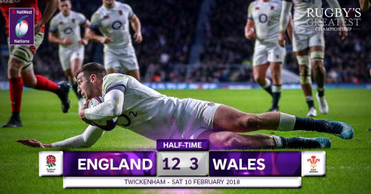 England Wales HT 6 Nations 2018