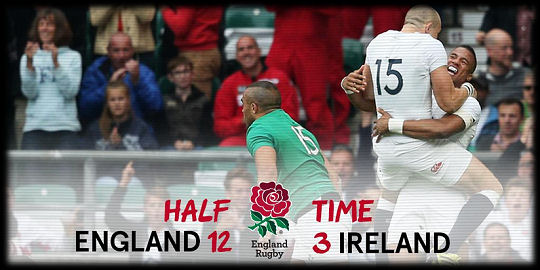 England v Ireland half time