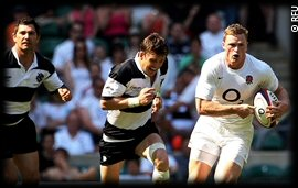 England vs Barbarians Chris Ashton