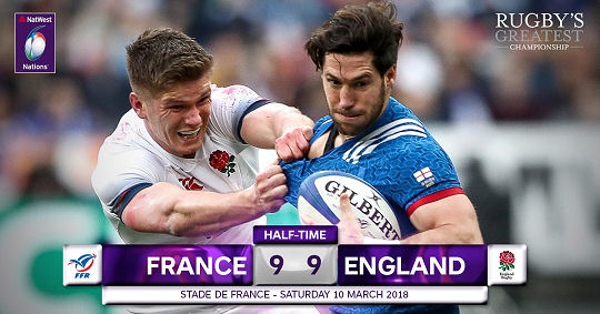 France England HT 6 Nations 2018