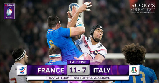 France Italy HT 6 Nations 2018