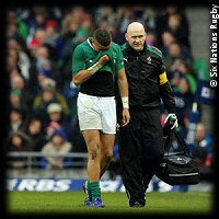 Ireland England 2013 Simon Zebo injury