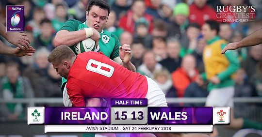 Ireland Wales HT 6 Nations 2018