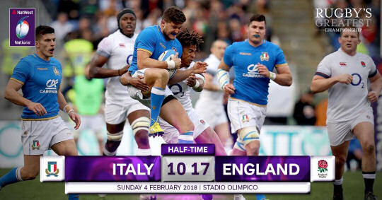 Italy England HT 6 Nations 2018