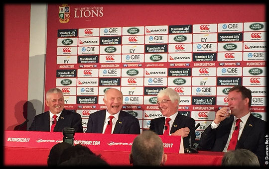 Lions 2017 Heach Coach Announcement Warren Gatland