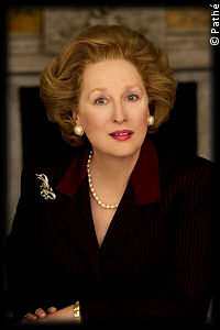 Meryl Streep as and in The Iron Lady