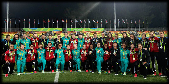 Rio 2016 Womens Rugby 7s Medallists