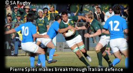 SA vs Italy Pierre Spies