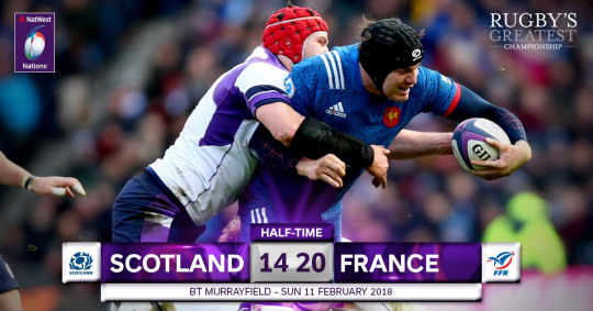 Scotland France HT 6 Nations 2018