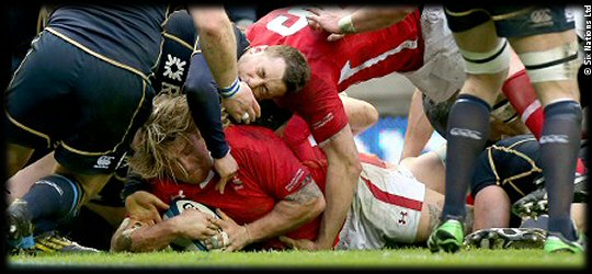 Scotland Wales Richard Hibbard try