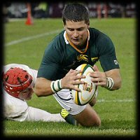 South Africa England 1st Test Morne Steyn try