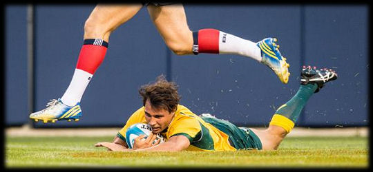 USA Eagles v Wallabies Nick Phipps try