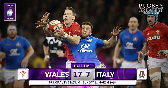Wales Italy HT 6 Nations 2018