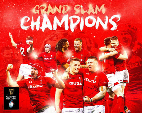 Wales Rugby Grand Slam Champions 2019