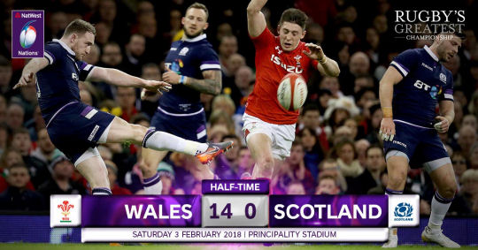 Wales Scotland HT 6 Nations 2018