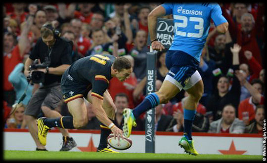 Wales v Italy George North try